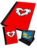 Mickey Hand Hearts | stampato tablet pieghevole Custodia cover in finta iPad 2/3/4