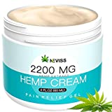 Natural Hemp Cream for Pain Relief, Active Hemp Oil Cream, Organic Hemp Herbal Extract Cream for Back, Knee, Neck, Nerve & Joint Pain, Premium Hemp Pain Relief Gel for Inflammation & Sore Muscles