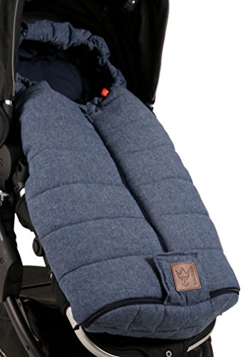 Kaiser 6572872 All Season-Kinderwagen-Fußsack Melly Melange, blau