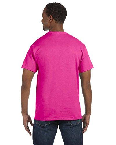 Jerzees Herren Asymmetrischer T-Shirt Cyber Pink