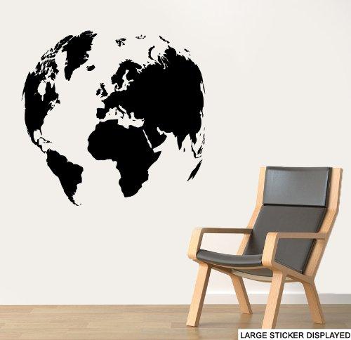 Preisvergleich Produktbild World globe Wand Kunst Vinyl Aufkleber – Bitte wählen Sie Ihre Größe & Farbe das Menü unten – Large 86 cm x 86 cm aqua grün