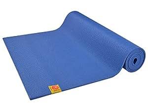 Tapis de yoga Confort Non toxiques - 183cm x 61cm x 6mm - Bleu indigo
