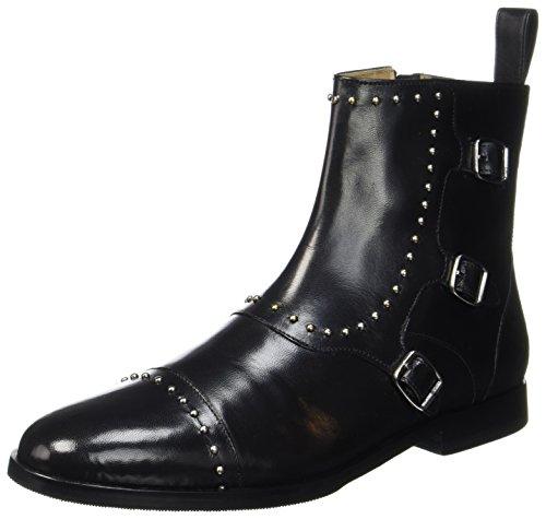 Melvin & Hamilton Damen Susan 45 Chelsea Boots, Schwarz (Salerno Black/Rivets, Hrs), 40 EU (Rivet Damen)
