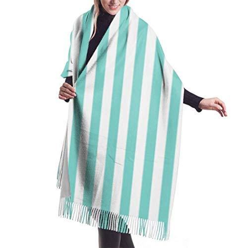 """27""""x 77"""" weicher Schal Kit Azul Tiffany Fazendo A Nossa Festa 73 Schöne Schals für Frauen Bunte Schals für Frauen Stilvolle große warme Decke"""