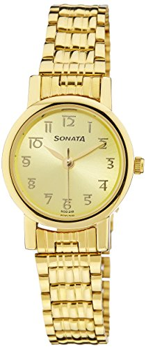Sonata Analog Gold Dial Women's Watch - NF8976YM06J image