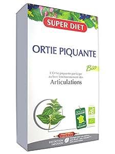 SuperDiet Ortie Piquante Bio Richesse minérale 20 ampoules de 15ml soit 300ml