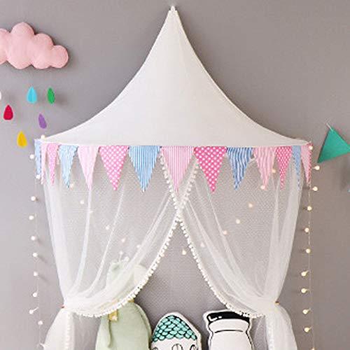 CDZNIU Indoor Kinderhimmelbett Zelte, Mädchen-Spiel-Zelt Princess mit Gazevorhängen, für Baby-Kinder Lesen Spiel Zelt Krippe und Schlafzimmerdekoration 65x120x60cm-C (Lesen Baldachin Für Kinder)