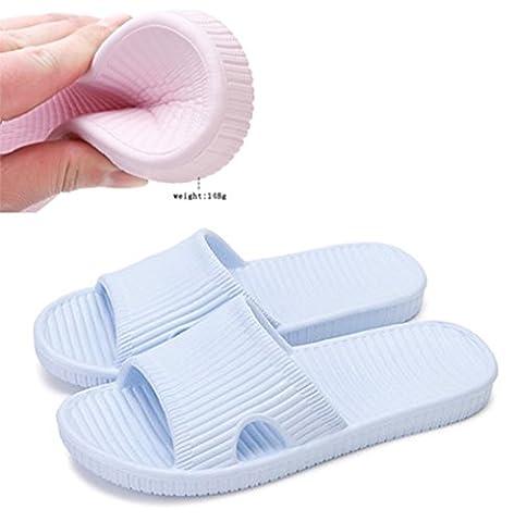 Sandales mules Happy Lily Semelle antidérapantes en mousse Pour douche maison piscine plage salle de bain Pour adultes, bleu