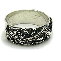 Anello fascia in Argento 925 Drago R001631