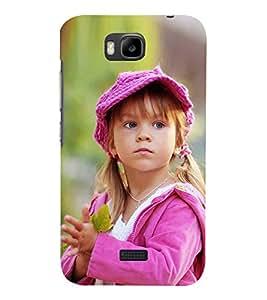 Fiobs Designer Back Case Cover for Huawei Honor Bee :: Huawei Honor Bee Y5c (Cute Girl Garden Cap)