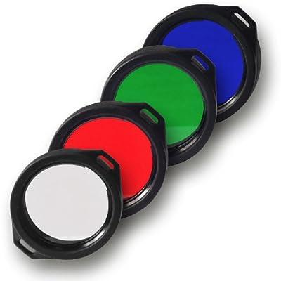 Armytek Filter / Diffusor für Predator und Viking Taschenlampen rot, grün, blau, weiß, 39mm von Armytek auf Outdoor Shop
