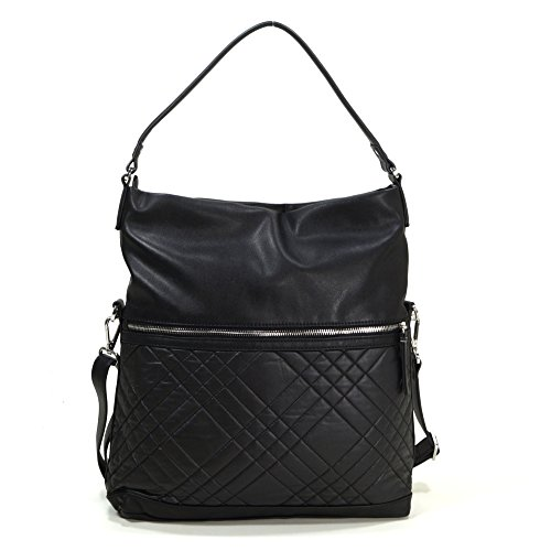 esprit-kate-flap-over-hobo-black
