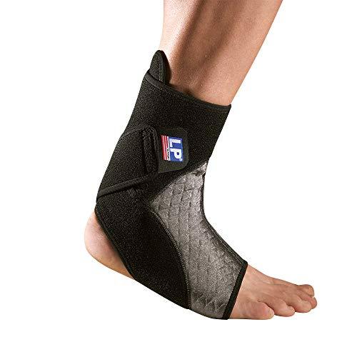 LP Support 529 Achillessehnenbandage - Fuss-Bandage mit offener Verse, Farbe:schwarz, Größe / Seite:M / Rechts