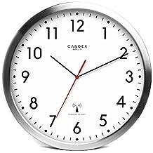 Lieblich Cander Berlin MNU 3030 Weiße Funkwanduhr Aus Aluminium Mit Lautlosem Sweep  Uhrwerk 12 Zoll (Ø