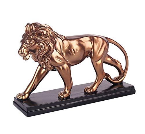 merican Home Jewelry Lion Decoration Office Desk Lion Creative Gift 29 * 10 * 18cm ()