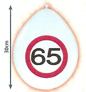 Folat 8Globos Número 65cumpleaños Señal de tráfico