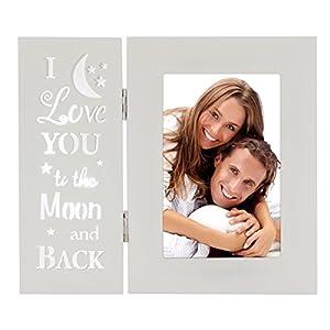 OUCHAN Baby Bilderrahmen 10,2x 15,2cm Light Up Bilderrahmen Collage mit Bewegungsmelder für Home Decor Familie Baby Friends