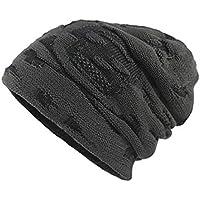 Happy Event Herren Thicken Warm Knit Beanie Crochet Winter Stricken Schädel Slouchy Caps Hut
