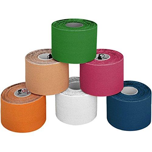 BB Sport 6 rollos kinesiología tape 5 m x 5,0 cm cinta kinesiologica en varias colores, Color:multicolor