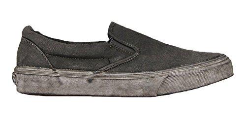 Vans Classic Slip-on Plus - Scarpe da Ginnastica Basse Unisex – Adulto, Nero (overwash Paisley/black), 34.5 EU Nero (overwash Paisley/black)