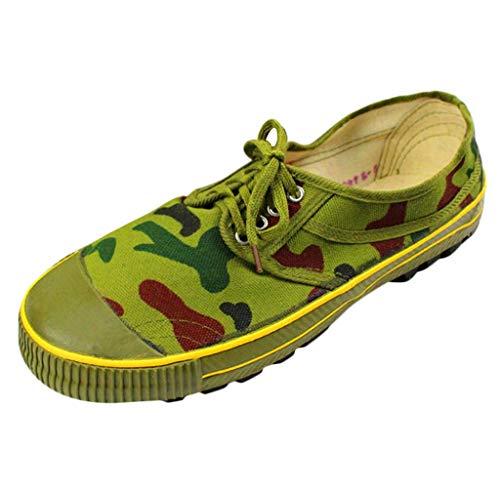 ZHANSANFM Unisex-Erwachsene Camouflage Sneaker Mode Rutschfeste Befreiungsschuhe Lace up Freizeit Leichte Outdoor Sportschuhe Weichem Fester Sohle Turnschuhe Liebhaber Schuhe Tarnen (Leder-gummi-sohle-kappe)