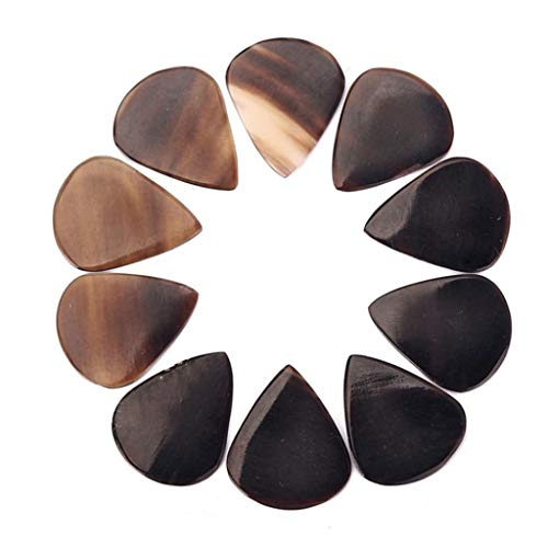 Musikinstrumente,Uticon Musical Instruments Set,Plektrum 10pcs stilvolle handgefertigte Imitation Buffalo Horn akustische E-Gitarren-Plektren (Hausgemachte Kind Kostüm)