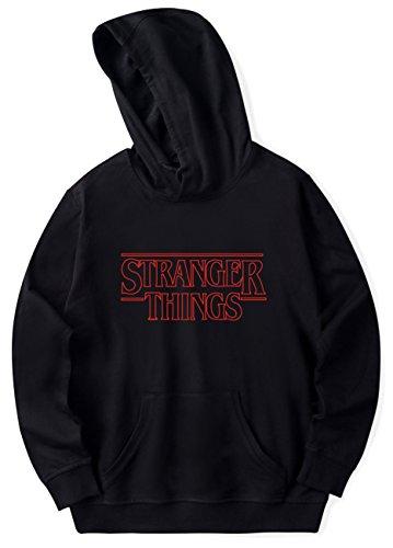 SERAPHY 2018 Unisexe Sweat-Shirts à Capuche Trendy Faces Nouvelle Saison Stranger Things Hooded Hommes Femmes Sweatshirts à Manches noir3 M