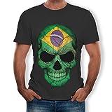 ZARLLE-Camisa Camisetas Hombre Originales Manga Corta de la Camiseta de la Manga de la Camiseta de la Impresión del Cráneo 3D para Hombre Deportiva 2019 Ofertas