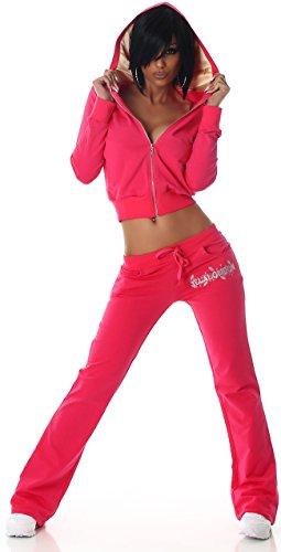 Jela London - Ensemble sportswear - Uni - Manches Longues - Femme Rose - Rose bonbon