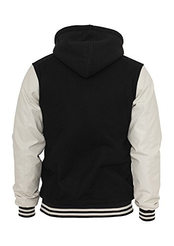 TB438 Hooded Oldschool College Jacket Herren Outdoor Jacke Kapuze - 2