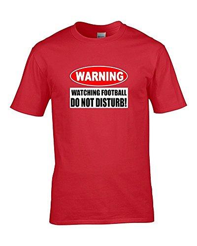 Fußball ACHTUNG, nicht disturb- Jokey Supporter Herren T-Shirt von Fat Kuckuck Rot - Rot