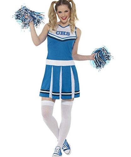 heerleader Kostüm, blau, Medium, UK 12–14 (Halloween Cheerleader-kostüme Uk)