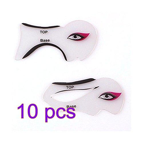 Frcolor 10 Par Smokey Eyeliner Stencil Cat Eyeliner Stencil Modelos Plantilla para Eyeliner