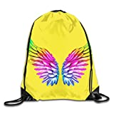 Drempad Tunnelzug Rucksäcke, Gay LGBTQ Lesbian Angel Wing Patterned Themed Printed Drawstring...