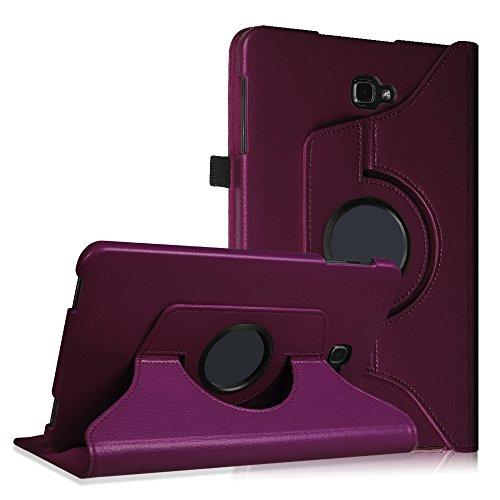Fintie Samsung Galaxy Tab A 10.1 Hülle - 360° Drehbarer Stand Cover Case Schutzhülle Tasche Etui mit Ständerfunktion Auto Schlaf / Wach Funktion für Samsung Galaxy Tab A 10,1 Zoll T580N / T585N Tablet (2016 Version), Lila (Lila Tablet Tasche)
