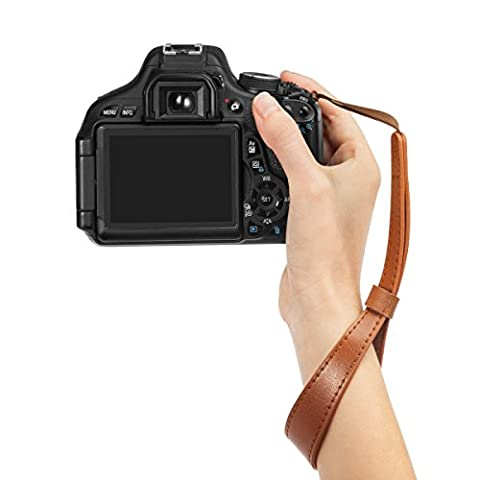 Woodmin DSLR Wrist Strap für Canon Nikon Pentax Sony usw. Modell LYN-241Z (Braun)