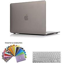 MacBook 12 Retina Funda Case, TECOOL [Ultra Slim Series] Plástico Hard Shell Funda con Tapa del Teclado para MacBook 12 Pulgada con Retina Display Modelo: A1534 - Gris