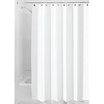 InterDesign Poly Bath Curtains Long Shower Curtain Made Of Polyester White