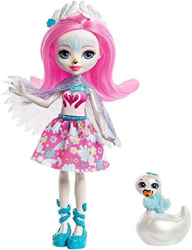 Enchantimals Muñeca con mascota Saffi Swan (Mattel FRH38)
