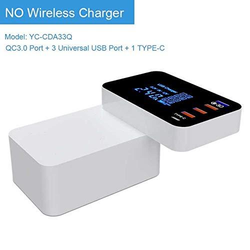 ZUZU Wireless Charger Quick Charge 3.0 Intelligente USB-Ladestation Typ C LED-Anzeige Schnellladeadapter Desktop ChargerQI Wireless Charger,UK Motorola Desktop-charger