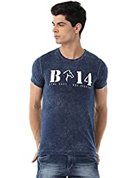 Classic Polo Bro Striped Indigo T-shirt For Men