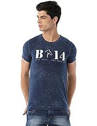 Classic Polo Bro Striped Indigo T-shirt For Men