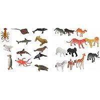 Jouet MagiDeal 24pcs 4-7cm Figure de Modèle Animal de de de Marin Animale Sauvage Plastique Jouets Enfants 38e81a