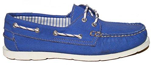 BluePort Herren Canvas Bootsschuh Vermont royalblau