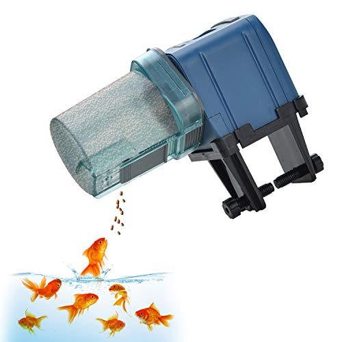 Lychee Distributeur Automatiques de Nourriture pour Poissons Nourrisseur Mangeoire Automatique Numérique d'Aquarium Chargeur Chronomètre,175ML Grande Capacité