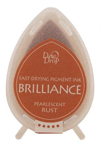 Brilliance Dew Drop Ink Pads Tsukineko Pad, Pearl Rost (Sitzkissen Rost)