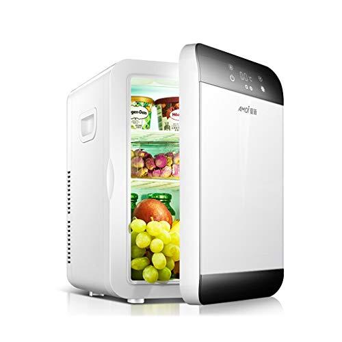 Xinjin 20-l-Elektroautokühlschrank, tragbarer Minikühlschrank mit LCD-Touchscreen, Dual-Core-Kühlung, Kalt- und Heißfunktion, Dual-Use-Funktion für Auto und Haushalt, DC12V-AC220V -