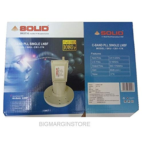 SOLID CB1-17K C-Band Satellite Dish Antenna PLL Single Output LNBF - by BigMarginStore