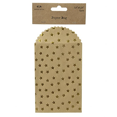 Unbekannt Heaven Sends Gold Stern Mini Umschläge (6 Stück) (20x10cm) (Braun/Gold)