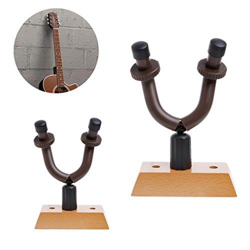 slylive Holzsockel Gitarre Kleiderbügel–Ständer Haken Halterung Wandhalterung Equipment Armatur (Studio Rack Holz)
